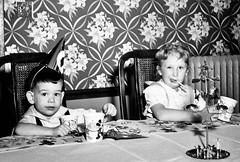 Happy Birthday 1950's Style (Bytormsa) Tags: birthday 120 rollfilm bw 1950s