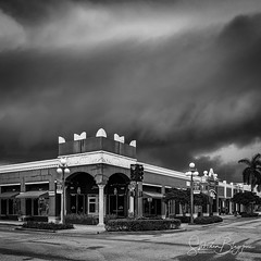 A Storm is Brewing (Slobodan Blagojevic) Tags: hollywood florida storm urban sky blackwhite blackandwhite
