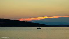 Golden line (malioli) Tags: sea dusk sunset sundown sky clouds seascape adriatic boat hrvatska croatia europe canon