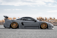Acura NSX - F120 - Polished Gold Bullion (AvantGardeWheels) Tags: agwheels ag avant garde wheels f120 polished gold bullion custom concave forged three piece bespoke rims stance lowered airlift performance bagged new york acura nsx na1 supercar japanese nature automotive photography