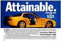 1993 Porsche 968 Coupe Aussie Original Magazine Advertisement (Darren Marlow) Tags: 1 3 6 8 9 19 93 1993 p porsche 968 s sort c coupe car cool collectible collectors classic a automobile v vehicle g germany german e european europe 90s