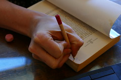 hold a pencil (bballchico) Tags: holdapencil hand pencil jessica fingers writing grip mercerstreetbooks