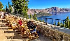 View from the patio at Crater Lake Lodge (lhboudreau) Tags:
