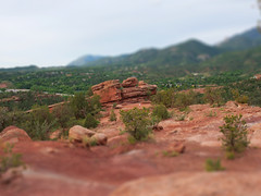 Garden of the Gods (Small Plastic World) Tags: garden gods tiltshift gardenofthegods coloradosprings colorado panasonic miniture landscape