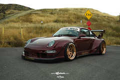 Porsche Carrera - F120 - Brushed Copper (AvantGardeWheels) Tags: agwheels ag avant garde wheels f120 brushed copper custom concave forged three piece bespoke rims stance lowered bagged porsche 993 carrera rwb rauh welt begriff nature car photography