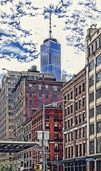 Interpretation (Jersey JJ) Tags: interpretation colorful tribeca nyc new york city manhattan topaz