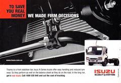 2001 Isuzu Trucks Aussie Original Magazine Advertisement (Darren Marlow) Tags: 1 2 20 2001 i isuzu t trucks c cool collectible collectors classic a automobile v vehicle j jap japan japanese asian asia 00s