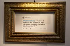 At the Donald J Trump Presidential Twitter Library (Tim Brown's Pictures) Tags: washingtondc humor satire tweets twitter trump donaldtrump president travelingexhibit popupexhibit washington dc unitedstates