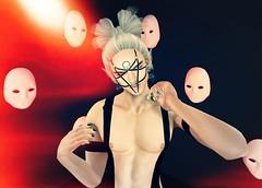 The Masks We Wear (mondoglam) Tags: xansa opale opalehair gorgeousdolls noche joplino