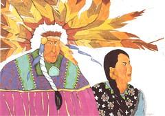 Postcrossing US-6086406 (booboo_babies) Tags: nativeamerican americanindian unitedstates southwesternunitedstates western southwest painting culture art postcrossing