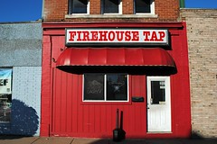 Firehouse Tap - Walkerton, Indiana (Cragin Spring) Tags: indiana walkerton walkertonin walkertonindiana stjosephcounty bar red awning firehousetap unitedstates usa unitedstatesofamerica