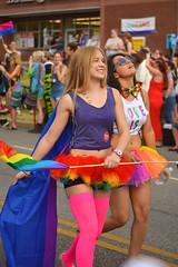 Team rainbow (radargeek) Tags: june 2017 okcpride pride gayprideparade parade oklahomacity okc rainbow flag tutu star sunglasses conniejohnson