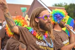 DSC_7150gtr (radargeek) Tags: june 2017 okcpride pride gayprideparade parade oklahomacity okc lei rainbow flag ups beard clown tattoo glasses