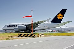Lufthansa 2014 Airbus 380 D-AIMN c/n 177 at San Francisco Airport 2019. (17crossfeed) Tags: lufthansa lufthansaairlines 380 380800 airport airbus aviation aircraft airplane flying flightattendant flight sfo sanfranciscoairport americanairlines deltaairlines southwestairlines landing takeoff tower taxi 17crossfeed claytoneddy maintenance 787 747 777 757 737