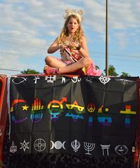 A flag to cover it all (radargeek) Tags: june 2017 okcpride pride gayprideparade parade oklahomacity okc rainbow child girl kid snowflake flag