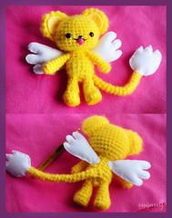 crochet character (sugarelf) Tags: crochettoy character cardcaptorcharacter handmade crochet felt yarn plushtoy myowndesign kawaii cute anime amigurumi gaurdianoftheclowcards