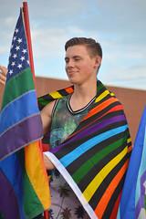 Wrapped in the flag (radargeek) Tags: june 2017 okcpride pride gayprideparade parade oklahomacity okc rainbow flag piercing