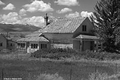 Abandoned in Ovid (walkerross42) Tags: abandoned house ovid idaho mountains bearlakevalley blackandwhite monochrome