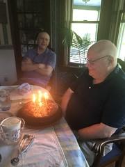 Dad Gets A Birthday Cake (amyboemig) Tags: dad birthday cake candles bob
