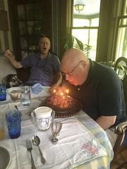 Bob Singing Happy Birthday To My Dad (amyboemig) Tags: dad birthday cake candles bob singing