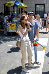 094A8651 v2 (Wheels Down) Tags: gay pride parade nyc 2016 twink cute flag tshirt cap jeans vans checkered flipflops blond candid streetphotography feet