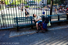 Happy Father's Day ([nixon]) Tags: father man children gr ricoh 28mm street city nyc chinatown light sun park sleep rest