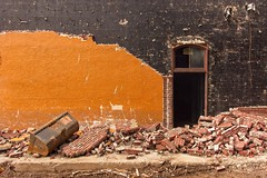 Demolition 0260 A (jim.choate59) Tags: jchoate on1pics brick demolition construction door wall destruction urbex broken window dark decay