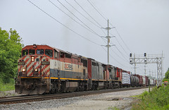Cloudy With A Chance Of Barns (SantaFe669) Tags: bcrail trains canadiannational c408m c408w railfanning railroads diesellocomotives locomotives