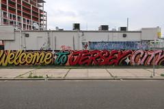 Welcome to Jersey City (wallyg) Tags: downtownjerseycity goodday graffiti hudsoncounty jc jerseycity mural newjersey nj queenandrea streetart welcome welcometojerseycity
