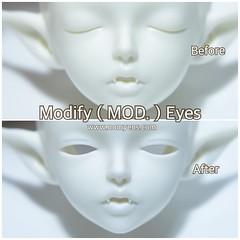 Modify ( MOD. ) eyes (♥..Nomyens..♥) Tags: bjd balljointdoll toy doll custom faceup paint painting painted repaint handmade nomyens nomyenscom dollfairyland minifee modifydoll modifyeyes msd