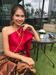 traditional (ChalidaTour) Tags: thailand thai asia asian traditional clothes dress dressing day girl teen twen beautiful