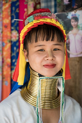 The most famous one (SLpixeLS) Tags: asia thailand chiang mai portrait girl woman hilltribes long neck karen earthasia totallythailand kayan padaung hilltribe bodymodification brass coils ethnic faces giraffewomen indigenous karentribe longneckkaren longnecks longnecktribe longo mujeres mujeresjirafa necklace padang padong paduang ring rings southeastasia traditional travel tribal tribe tribes village