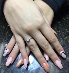 Gel Nail Art Designs Light Pink (NailArtsDelafield) Tags: gel nails shellac polish color colors nail art designs design arts no chip gelixer dnd opi wave