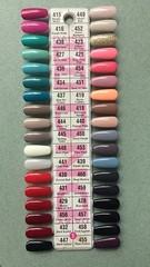 1 - DND Gel Polish Color Palette (NailArtsDelafield) Tags: dnd gel polish colors shellac no chip nail nails palette color gelixer