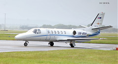 S5-BSA CESSNA CITATION 550 (douglasbuick) Tags: cslau cessna 680 citation latitude glasgow airport egpf scotland private biz jet landing approach