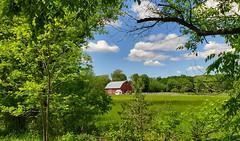 Indian Trail barn (Larry the Biker) Tags: barn farm farming ag agriculture country rural redbarn june fairweather raytownship michigan