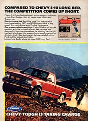 1984 Chevrolet Chevy S-10 Long Bed 4WD Pickup Truck USA Original Magazine Advertisement (Darren Marlow) Tags: 1 4 8 9 19 84 1984 s 10 s10 c chev chevy chevrolet p pickup t truck car cool collectible collectors classic a automobile v vehicle u us usa united states american america g m gm general motors 80s