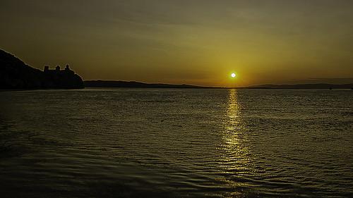 Sunset on the Danube in Golubac