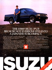 1986 Isuzu PUP Pickuo Truck USA Original Magazine Advertisement (Darren Marlow) Tags: 1 6 8 9 19 86 1986 i isuzu p pup t truck c car cool collectible collectors classic a automobile v vehicle j jap japan japanese asian asia 80s