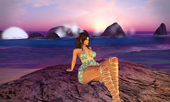 crashing of waves (Sabreene) Tags: virtual sl avatar laq maitreya secondlife blueberry truth