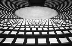 Auditorium (HWHawerkamp) Tags: turkey konya auditoium seats graphics blackwhite abstract pointofview travel monochrome curves