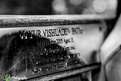 rest here (G.R Photography) Tags: death restingplace finalrestingplace memory memorial bench inlovingmemory closesubject black white blackandwhite blackandwhitebackground blackandwhitephotography bw plaque chelmsford cathedralbench uk ukphotography england