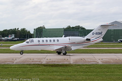 G-SONE - 2001 build Cessna 525A Citation Jet CJ2, rolling for departure on Runway 23L at Manchester (egcc) Tags: 525a0031 bizjet cj2 clf ce525a centreline centrelineaircharter cessna cessna525 cessna525a citation citationjet clifton egcc gsone lightroom mxone man manchester n312cj ringway vpbfc