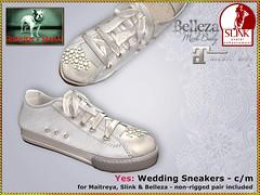 Bliensen - Yes - Wedding Sneakers (Plurabelle Laszlo of Bliensen + MaiTai) Tags: wedding bride sneakers shoes slink maitreya belleza secondlife sl bliensen bliensenmaitai mesh