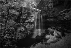 """Ashgill Infrared (""""A.S.A."""") Tags: ashgill waterfall alston northpennines cumbria infrared830nm countryside england britain sonya7rinfrared830nm sonyzeissvariotessarfe1635mmf4 wideangle longexposure leefilters littlestopper 6stop slowshutter blackwhite mono monochrome greyscale niksoftware silverefex asa2019"""