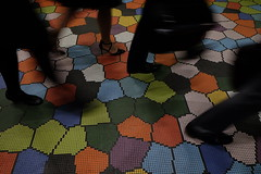 rush hour (jhnmccrmck) Tags: melbourne victoria melbournecentral tiles floor fujifilm fujifilmxt1 xt1 xf1855mm classicchrome mosaic