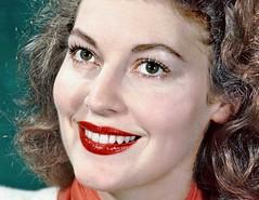Ava Gardner (thomasgorman1) Tags: portrait hollywood colorized actress gardner retro classic star noir nostalgia closeup detail lipstick red smile smiling face eyes beauty