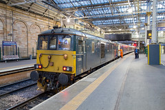 GBRf 73968 Edinburgh Waverley (daveymills37886) Tags: gbrf 73968 edinburgh waverley caledonian sleeper class 73 739