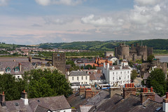 Town Walls of Conwy-E6101788 (tony.rummery) Tags: ancient castle city conwy em10 historic mft microfourthirds omd olympus rooftops town wales walls unitedkingdom