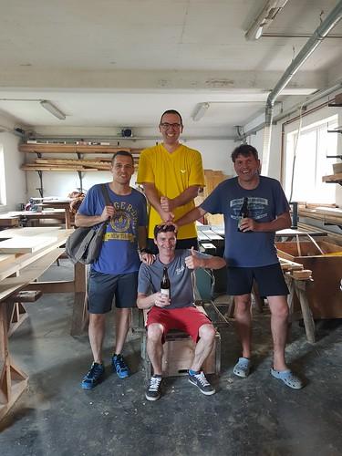 Die Tischtennis - Profis vom Miniponyhof Wild ! Gratulation dem Sieger Thorsten Höchtl !